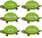 Phonics Phase 6 - ing Sorting Tortoises - Suffixes