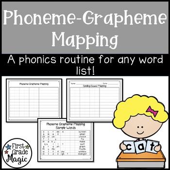 Phonics Phoneme-Grapheme Mapping Activity