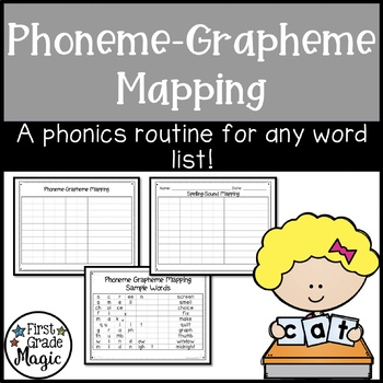 Phonics Phoneme-Grapheme Mapping Activity by First Grade Magic