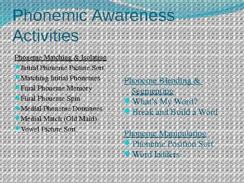 Phonics & Phonemic Awareness Activities