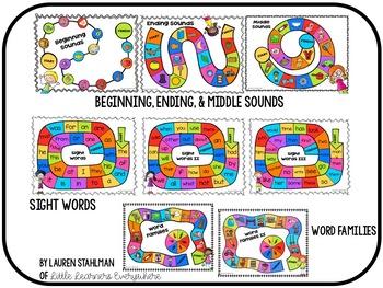 Phonics & Phonemic Awareness Game Board Super Pack