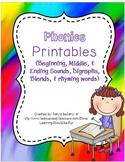 Phonics & Phonemic Awareness Printables Bundle - (N0 PREP!)