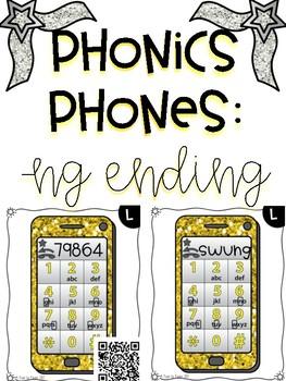 Phonics Phones - Ng Ending Blends QR Task Cards
