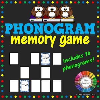 Spalding Phonogram Memory Game
