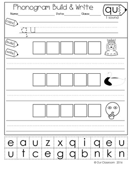 44  Phonics Worksheets: Practice Phonograms Copywork | Spalding ...