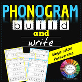 Spalding Phonogram Worksheets (Build and Write – Single Letter Phonograms)