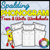 Spalding Phonogram Trace and Write Worksheets