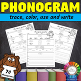 Spalding Phonogram Worksheets (trace, color, use and write all 70 phonograms)