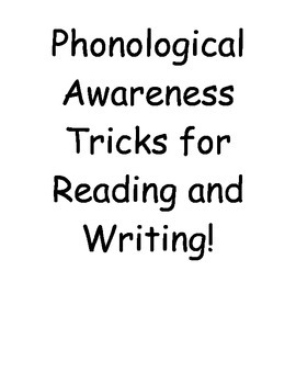 Phonics Phonological Awareness Posters for Chanting or Singing