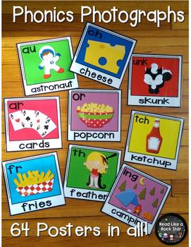 Phonics Photographs: Posters for Blends, Digraphs, and More!