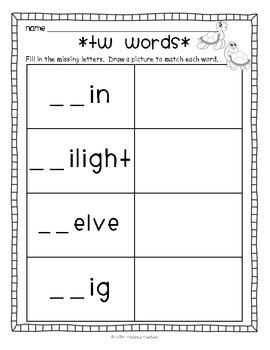 Word Work - Tw-Blend FREEBIE