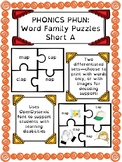 Phonics Phun! Short A Word Family Puzzles