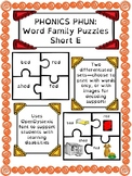 Phonics Phun! Short E Word Family Puzzles