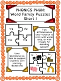 Phonics Phun! Short I Word Family Puzzles