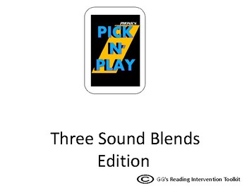 Phonics Pick n Play: 3 sound/letter Blends (Similar to UNO)