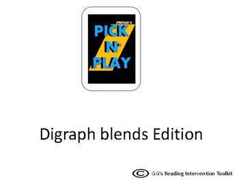 Phonics Pick n Play: Digraph Blends (Similar to UNO)