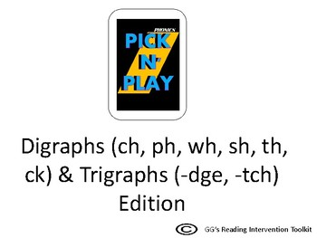 Phonics Pick n Play: Digraphs and Trigraphs: mixed (Similar to UNO)