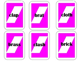 Phonics Pick n Play: Initial 2 sound/letter sound/letter Blends (Similar to UNO)