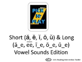 Phonics Pick n Play: Long and Short Vowel sounds: mixed (S