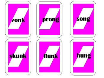 Phonics Pick n Play: -nk and -ng welded sounds mixed (Similar to UNO)