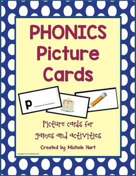 Language Arts - Phonics Picture Cards for Alphabet Letter Sounds