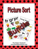 Phonics Picture Sort - BUNDLE- Beginning Sound, Blends, CV