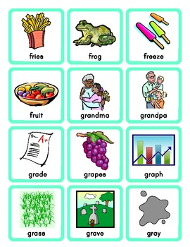 Phonics Picture Sort Cards for R Blends