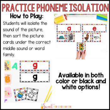 Kindergarten Phonics Picture Sorts BUNDLE