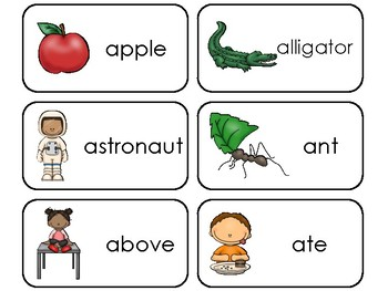 Phonics Picture and Word Flashcards. ELA, Fluency, and Articulation Flashcards.