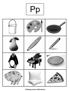 Phonics Pictures and Word Cards Unit (Reproducible & Editable)