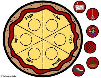 Phonics Pizza Puzzles - Long A Silent E CVCE