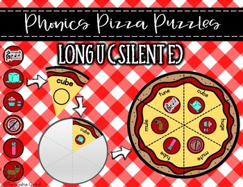 Phonics Pizza Puzzles - Long U Silent E CVCE