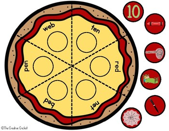 Phonics Pizza Puzzles - Short E