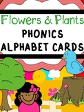 Phonics Plants and Flowers Alphabet Cards -regular font-