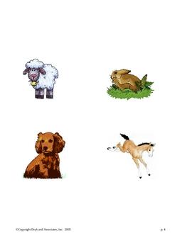 Phonics:  Playing with Animals (English and Spanish)