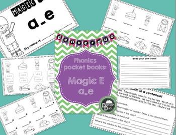 """Phonics Pocket Book - """"Magic E"""" - a_e"""