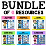 Phonics Pocket Charts Bundle