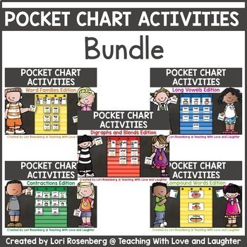 Phonics Pocket Chart Cards Bundle