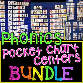 Phonics Centers Pocket Chart BUNDLE