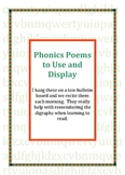Phonics Poem Posters to Read and Display