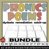 Phonics Poems Poetry BUNDLE 31 long vowel sounds vowel team blends digraphs RTI