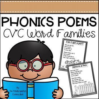 Phonics Poems - CVC Word Families-Distance Learning Update
