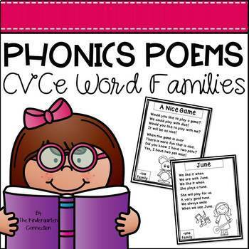 Phonics Poems - CVCe Word Families