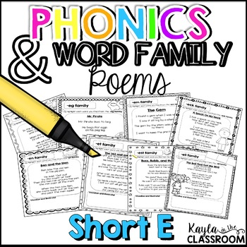 Short E Phonics Poems
