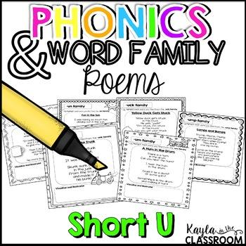 Phonics Poems- Short U