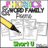 Short U Phonics Poems