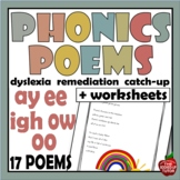 Phonics Poems Long Vowel Teams Blends Digraphs AY EE IGH O