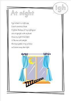 Phonics Poems Long Vowel Teams Blends Digraphs AY EE IGH OW OO Phonemes
