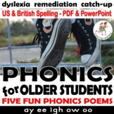 {Phonics Poems} {Remedial reading MIDDLE SCHOOL} {phonics for older students}