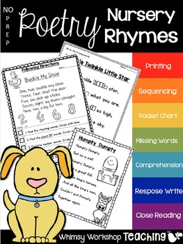 No Prep Poetry Nursery Rhymes